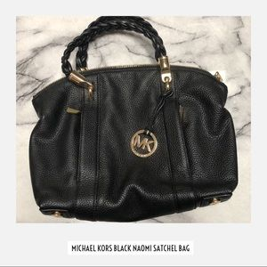 Michael Kors Black Naomi Satchel Bag